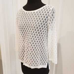 White House Black Market Pullover Sheer Top